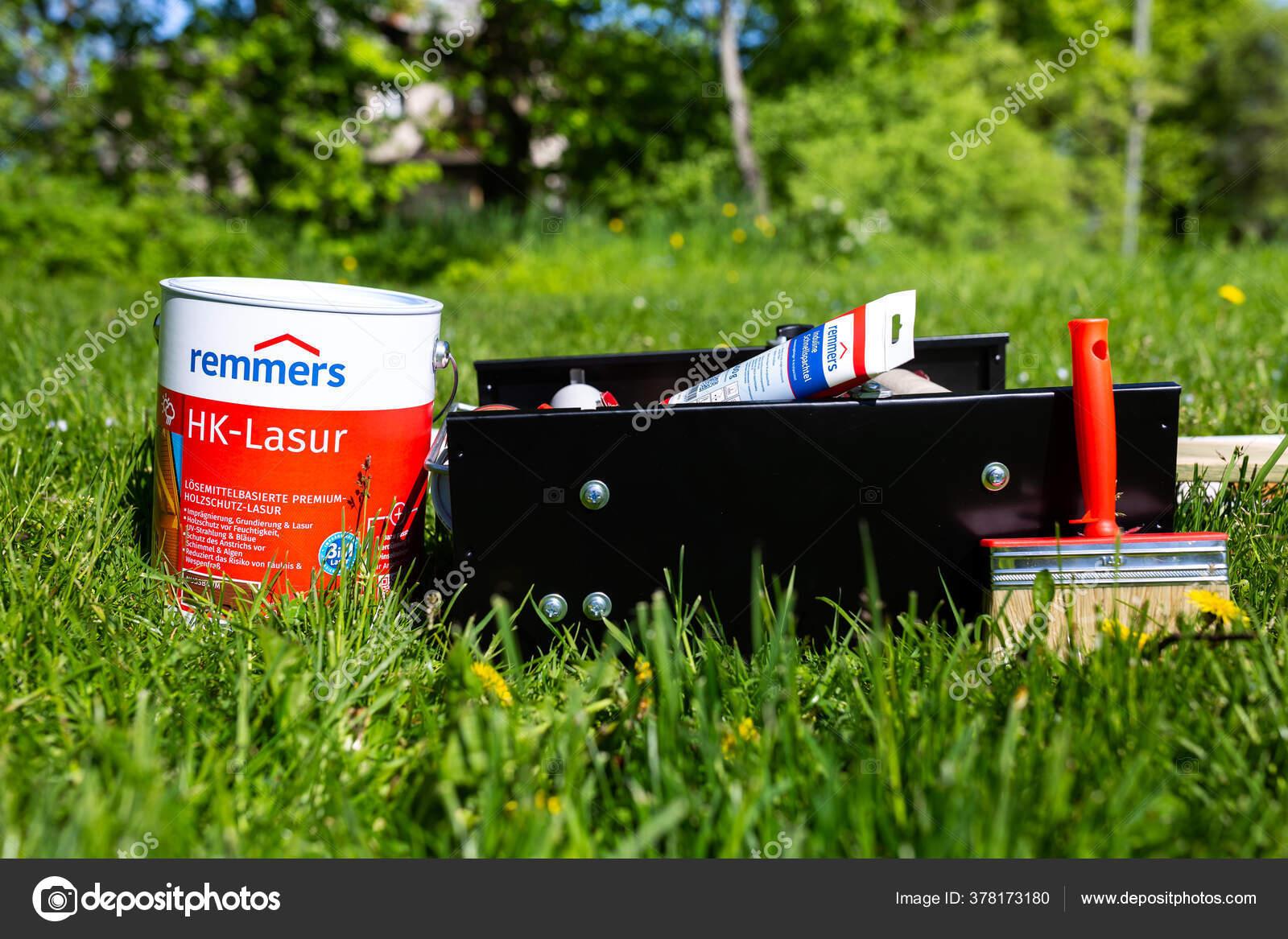 City Cesis Latvia Paint Bucket Painting Machine 2020 Stock Editorial Photo C Ynos21 378173180