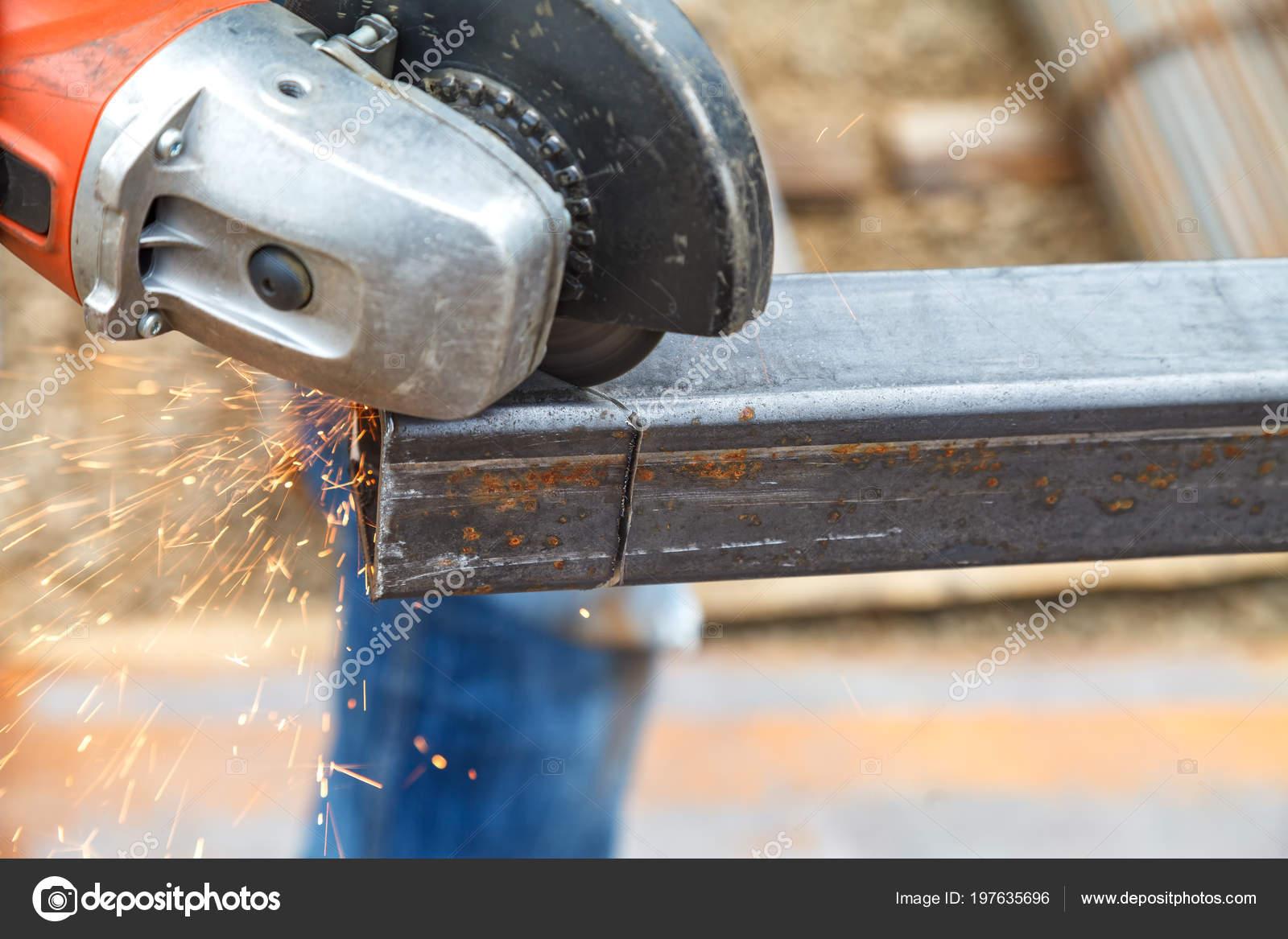Cutting Steel Heavy Industry Electric Flex — Stock Photo