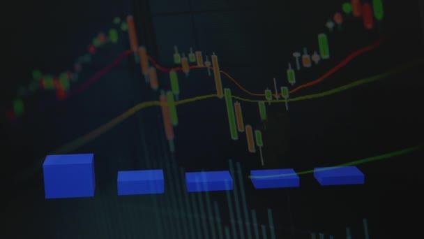 finanční graf se vzestupem křivky svícen na akciovém trhu