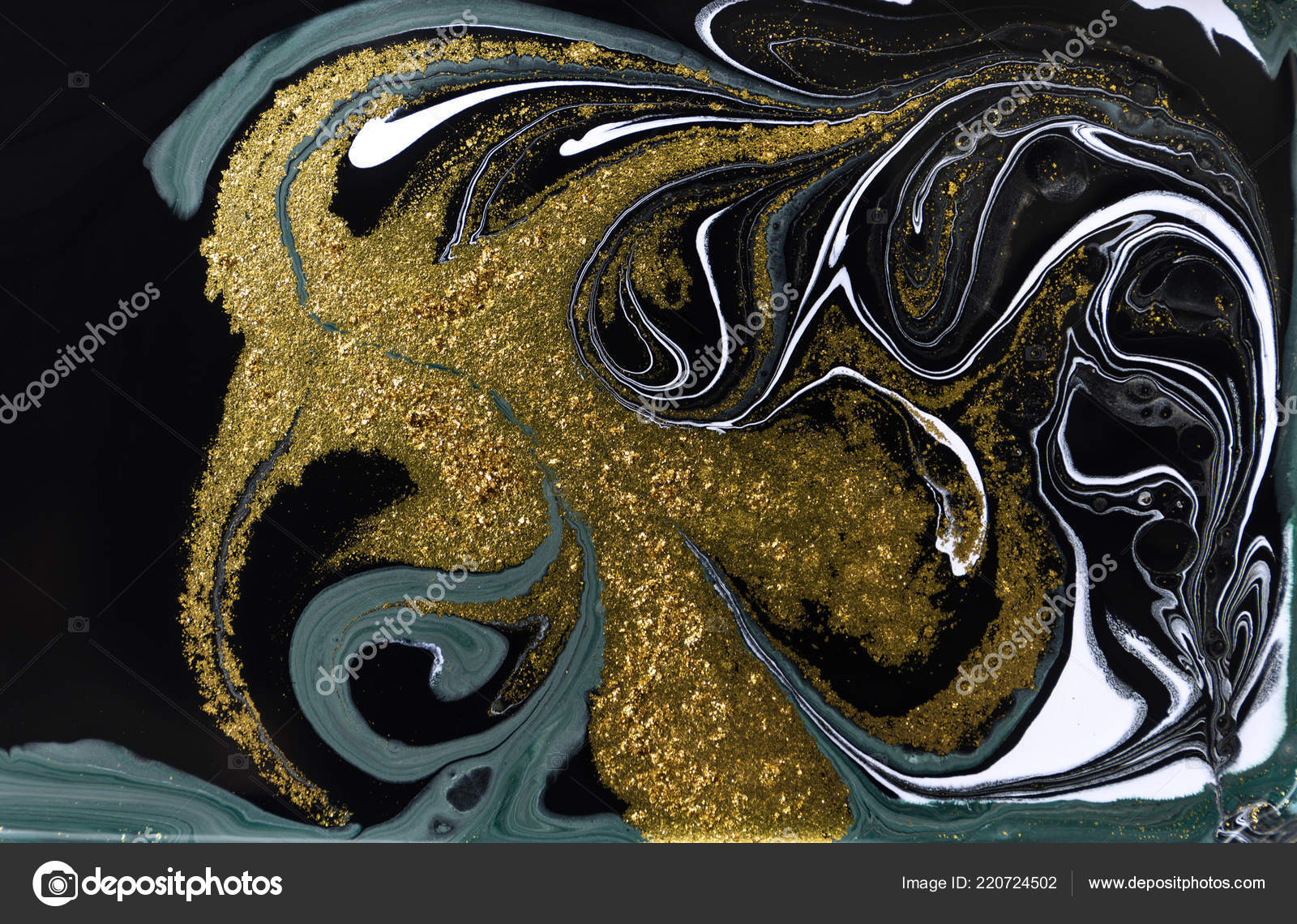 Gold marbling texture design  Blue and golden marble pattern