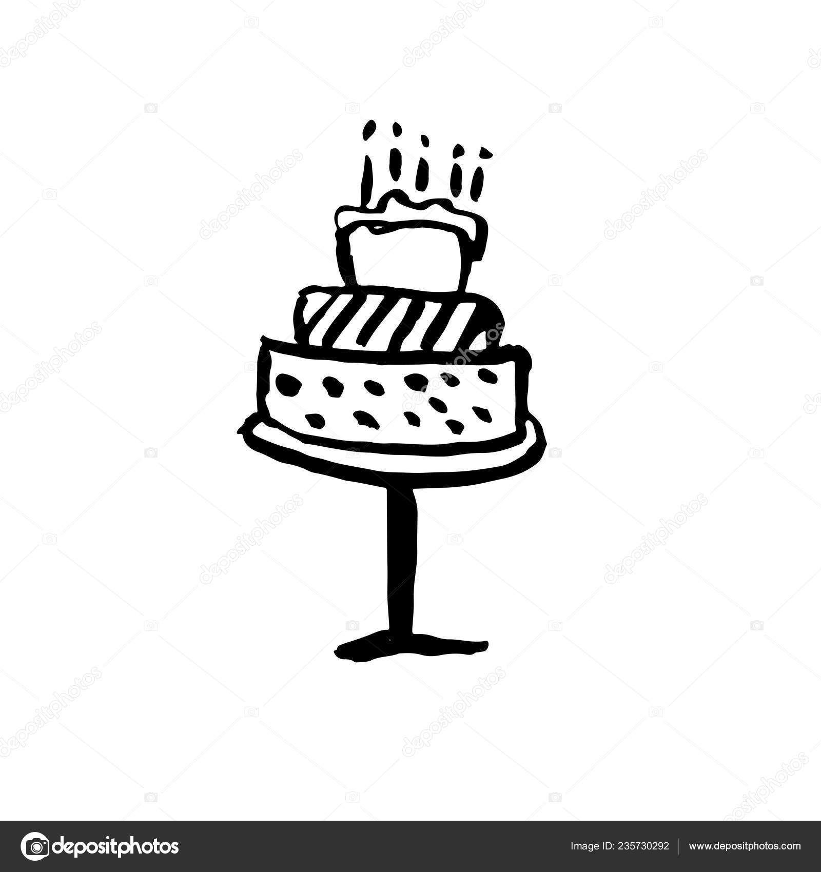 Astounding Birthday Cake With Candles Grunge Icon Vector Illustration Funny Birthday Cards Online Alyptdamsfinfo