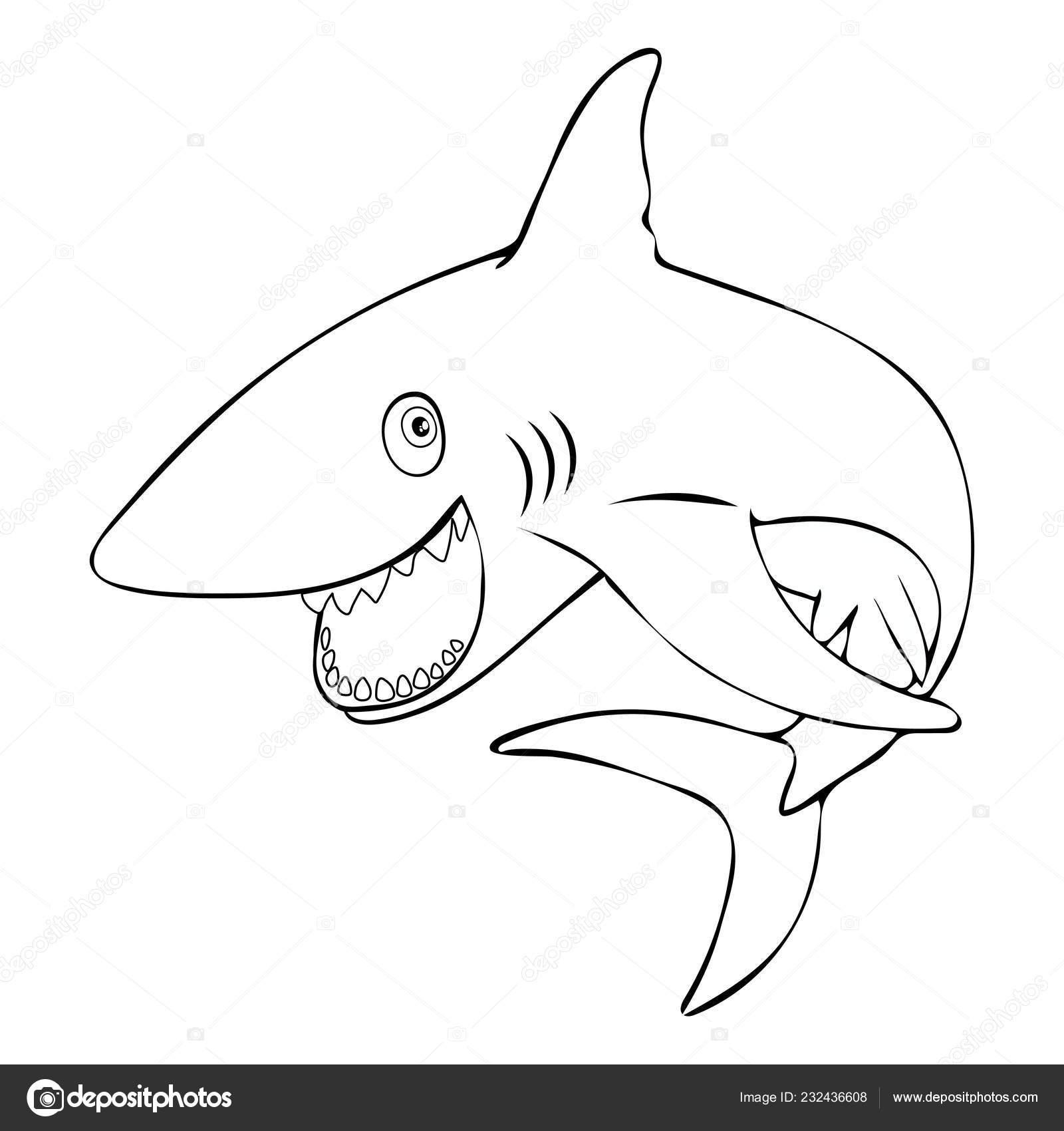 Tiburones Pez Gracioso Sonriente Saltos Fuera Del Agua