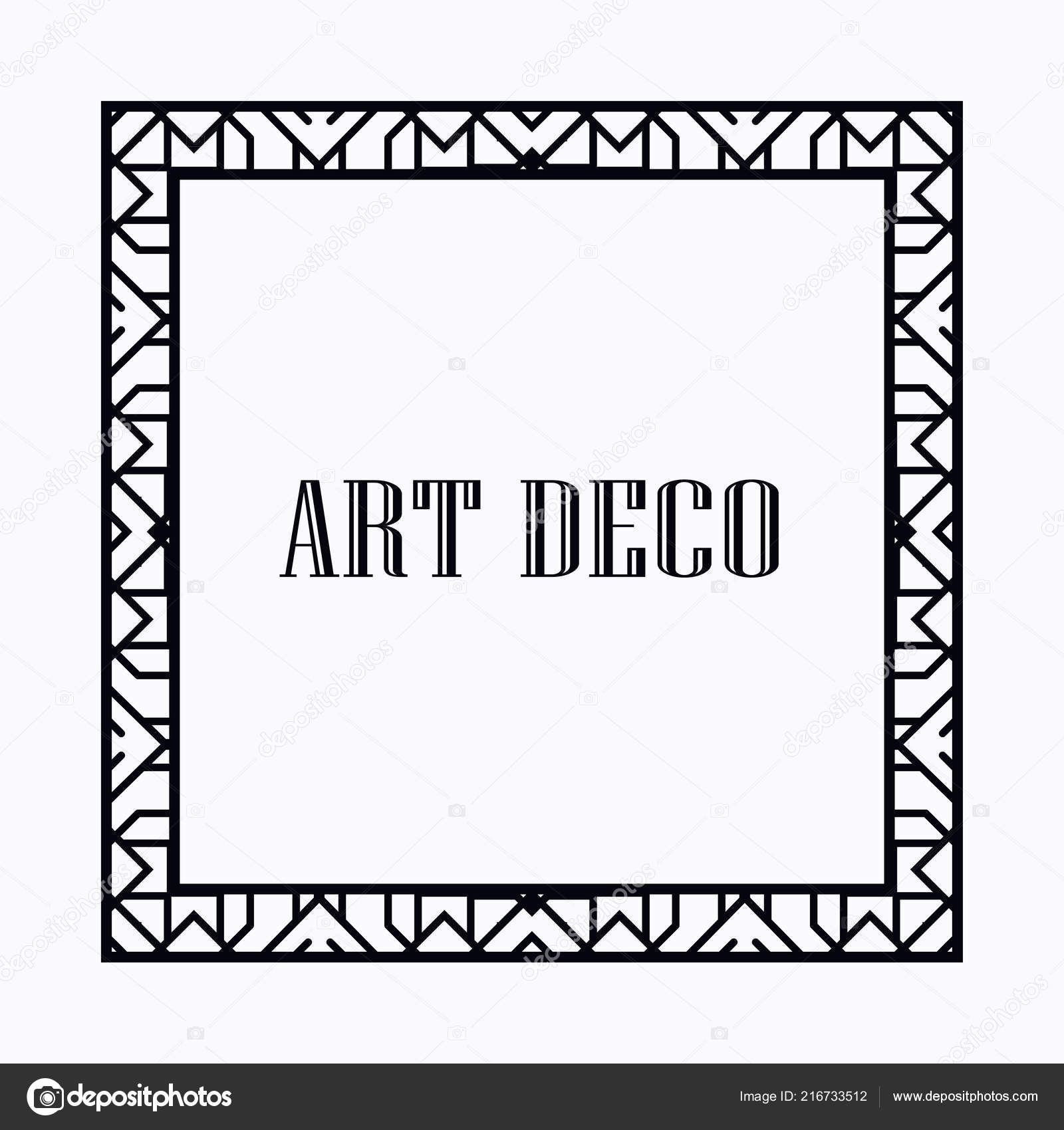 Art Deco Frame — Stock Vector © IllustratorFotostocker2016.gmail.com ...