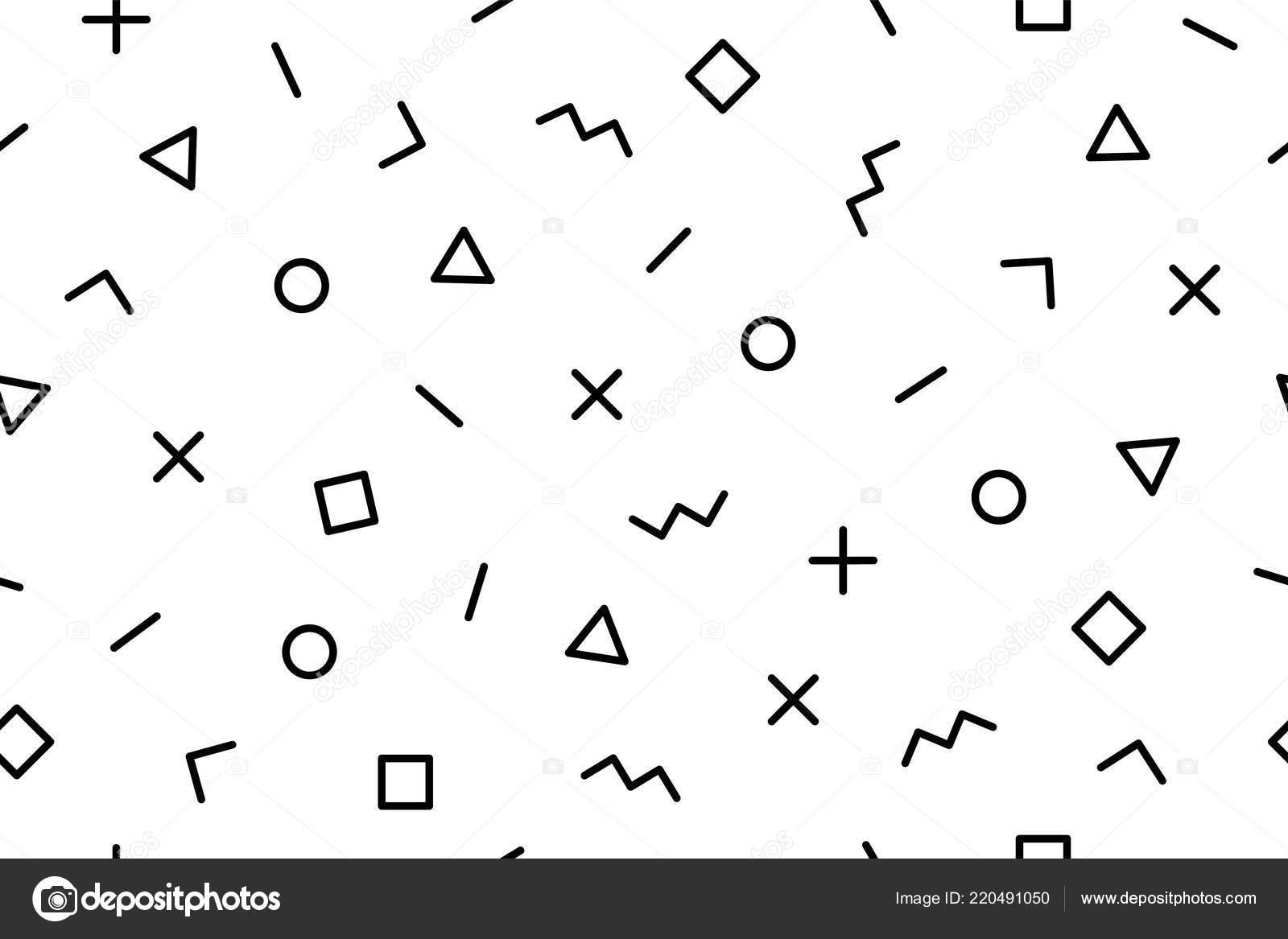 Pattern Seamless Memphis Geometric Graphic Pattern 80S 90S