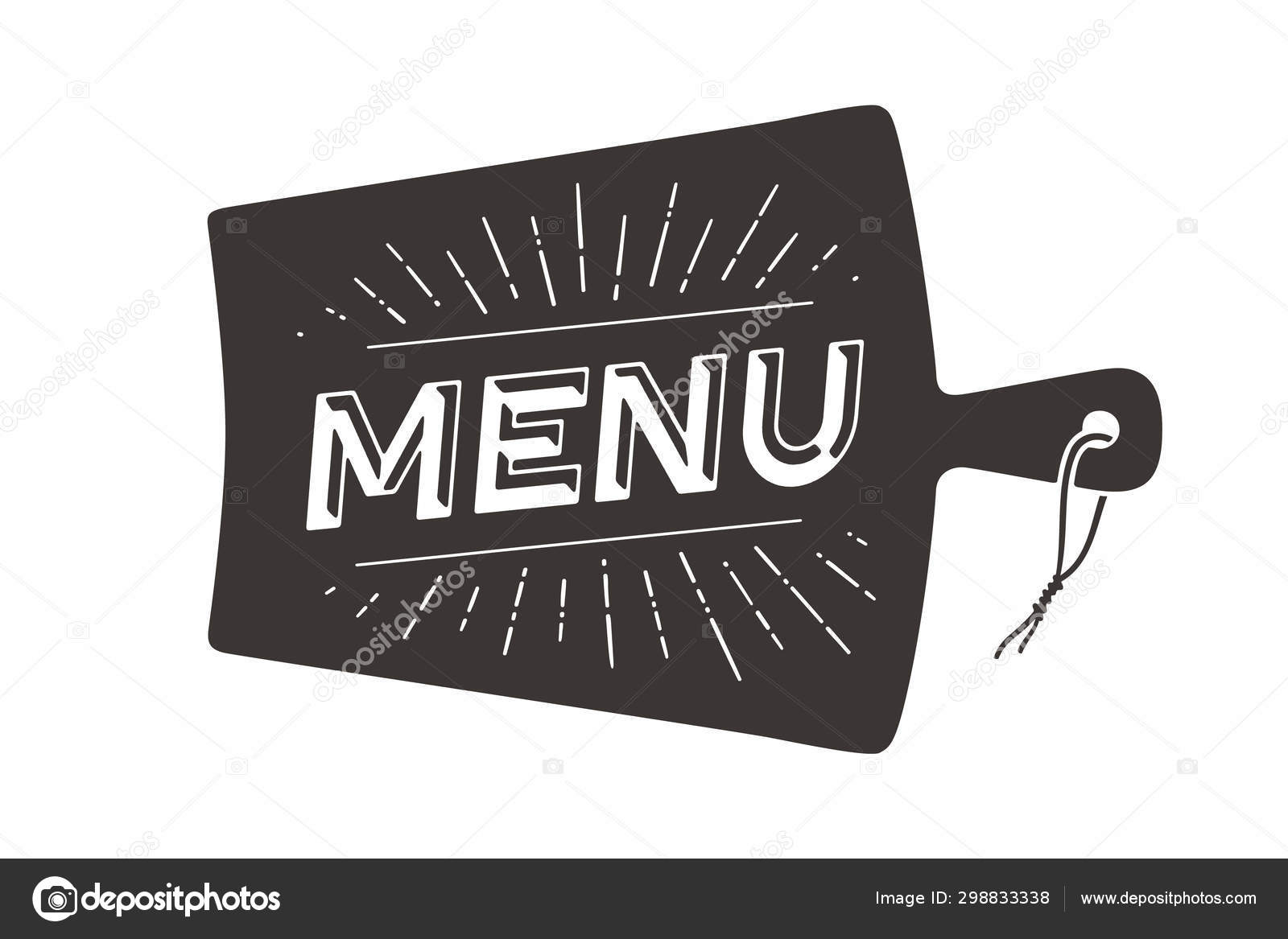 Menu Cutting Board Wall Decor Poster Sign Quote Poster Kitchen Stock Vector C Foxysgraphic 298833338
