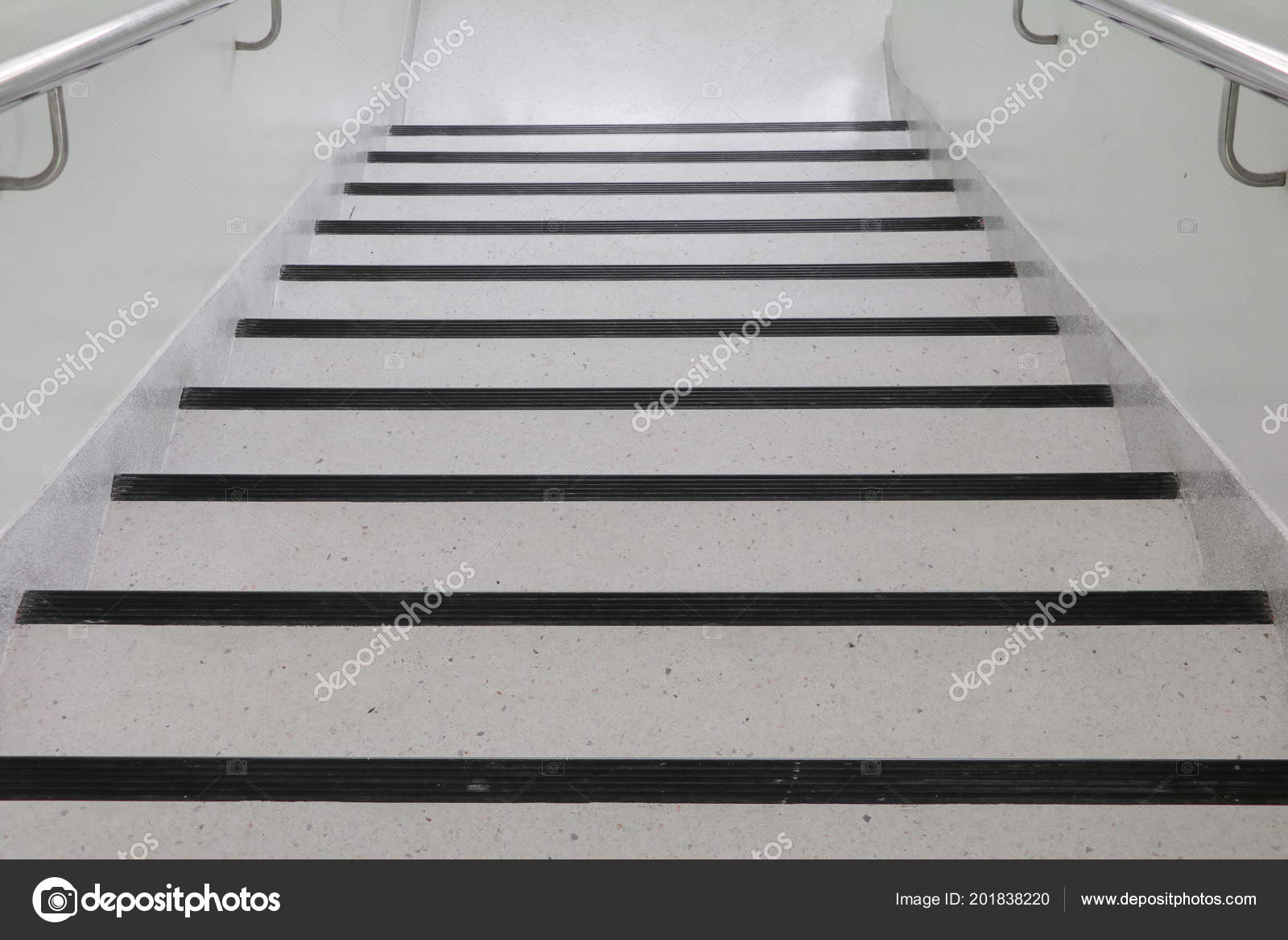 Terrazzo Floor Stairs Walkway Select Focus Shallow Depth
