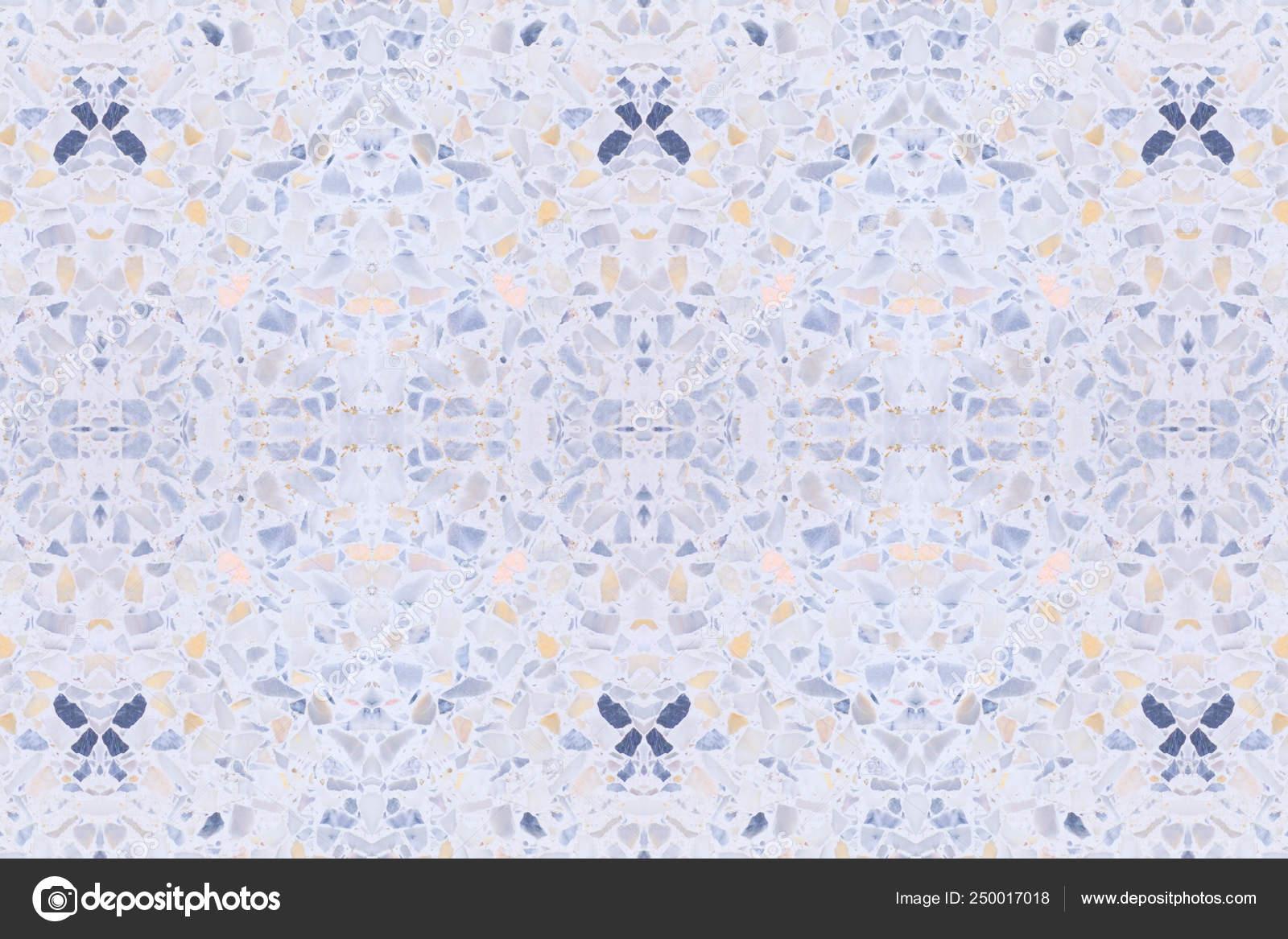 Terrazzo Flooring Texture Polished Stone Pattern Stock