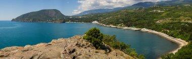 View of the Ayu-Dag mountain and kuchuklambatsk bay from Cape Plaka Crimea