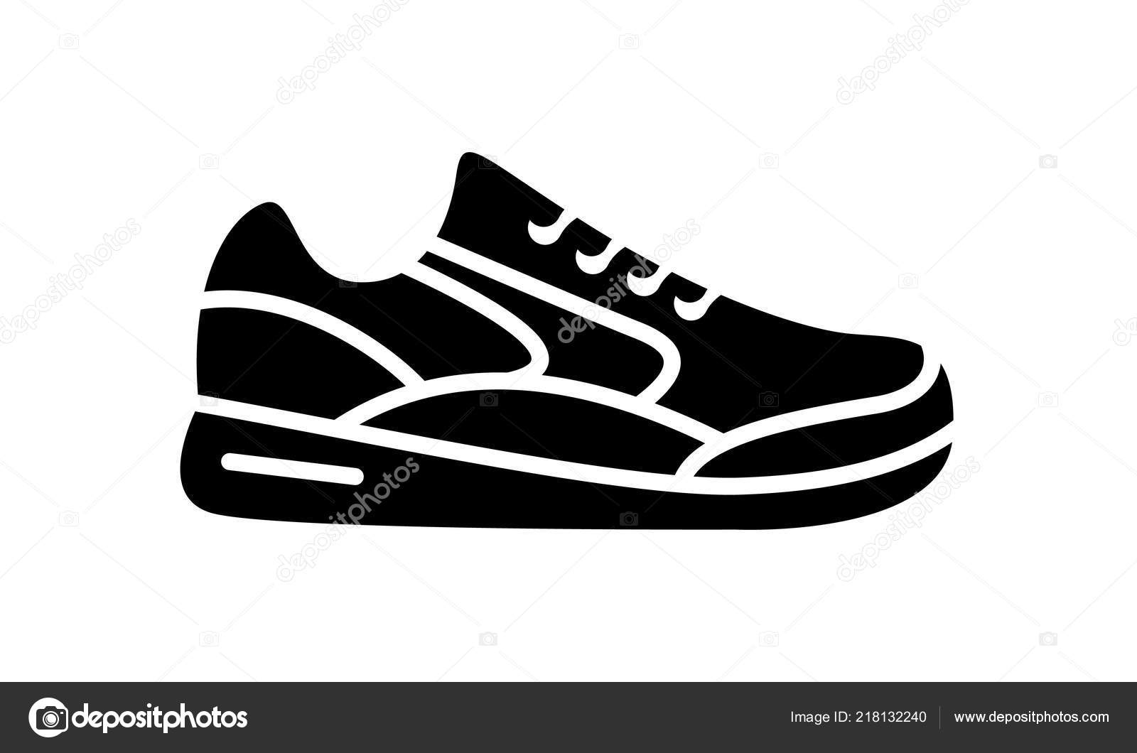 Running Shoes Icon Simple Illustration Fitness Sport Gym