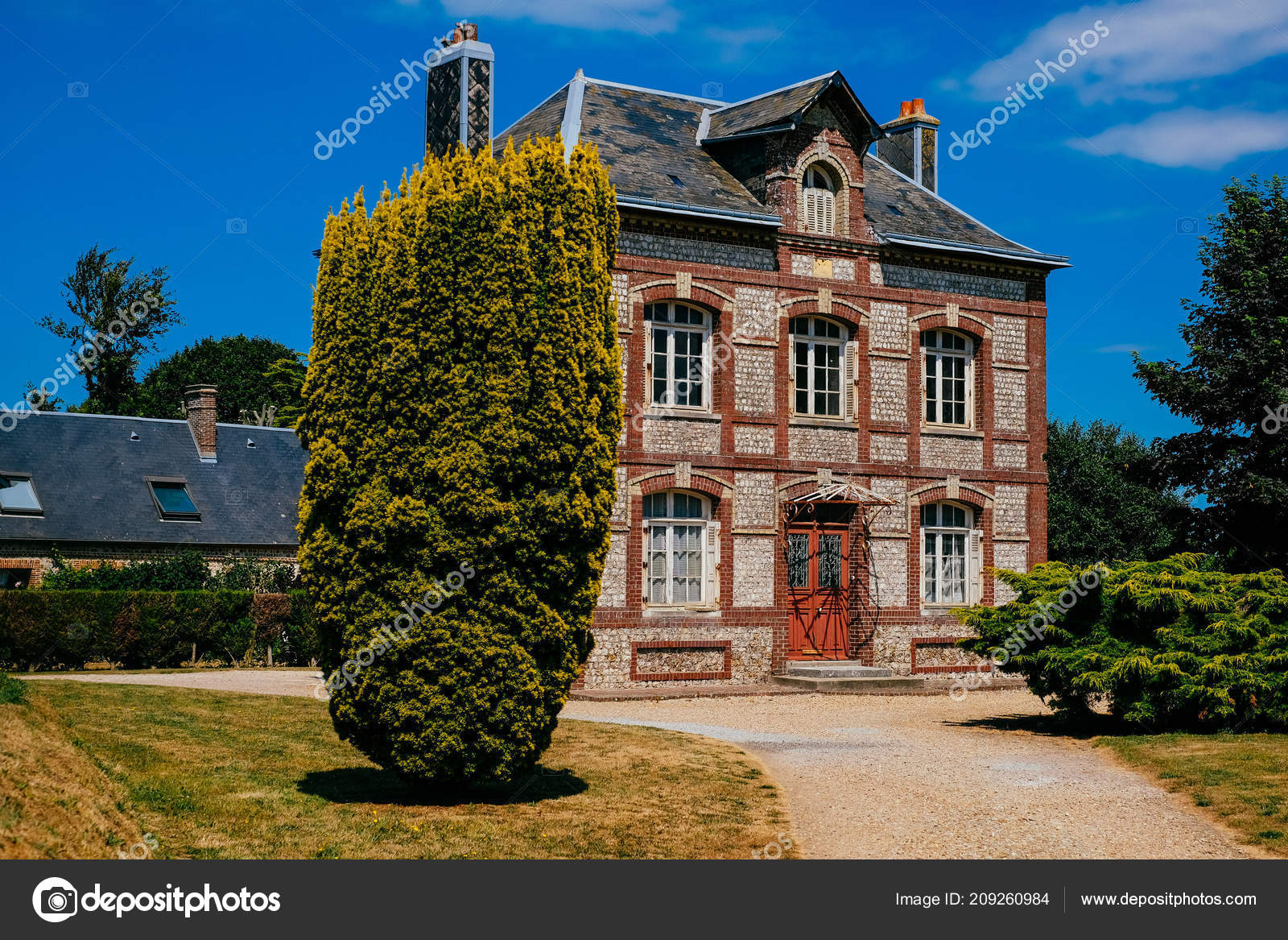 Romantic Industrial Houses City Yport Habour Normandy Cloudy Sky Stock Editorial Photo C Manovankohr 209260984