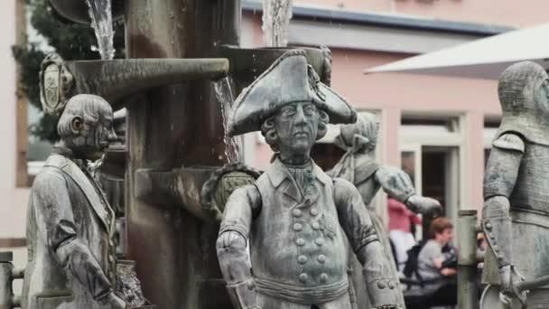preußischer Soldatenbrunnen am Marktplatz in der Innenstadt von Lippstadt, Deutschland