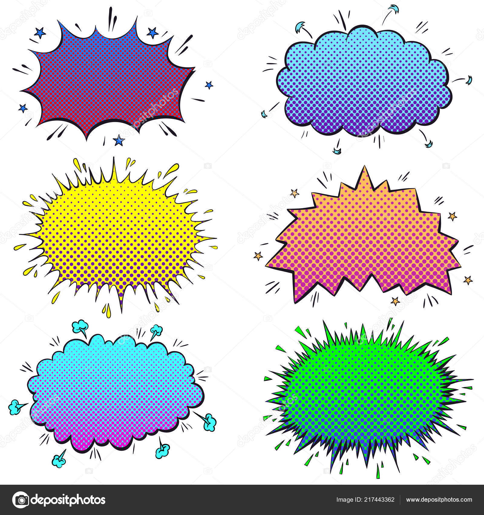 Collection Empty ic Clouds Set Speech Bubbles ics Background