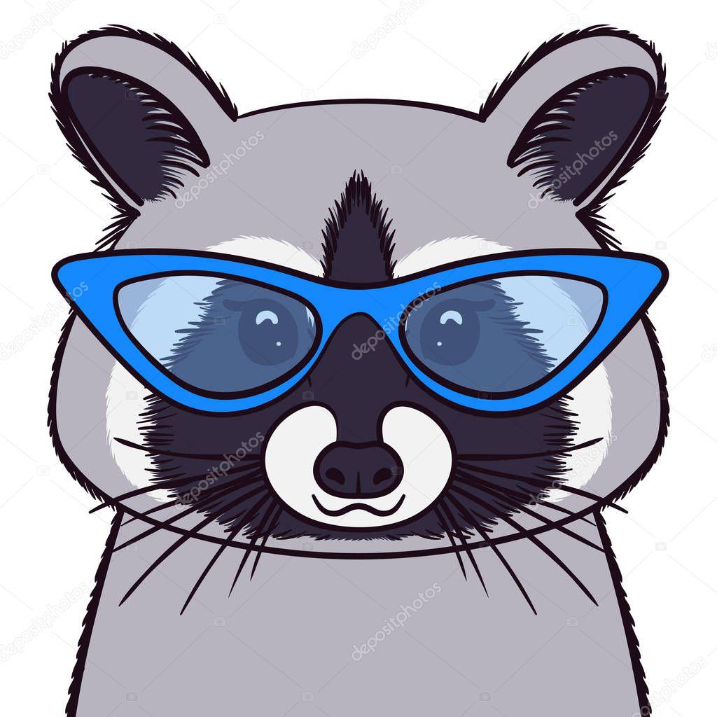 Енот в очках картинки нарисованные