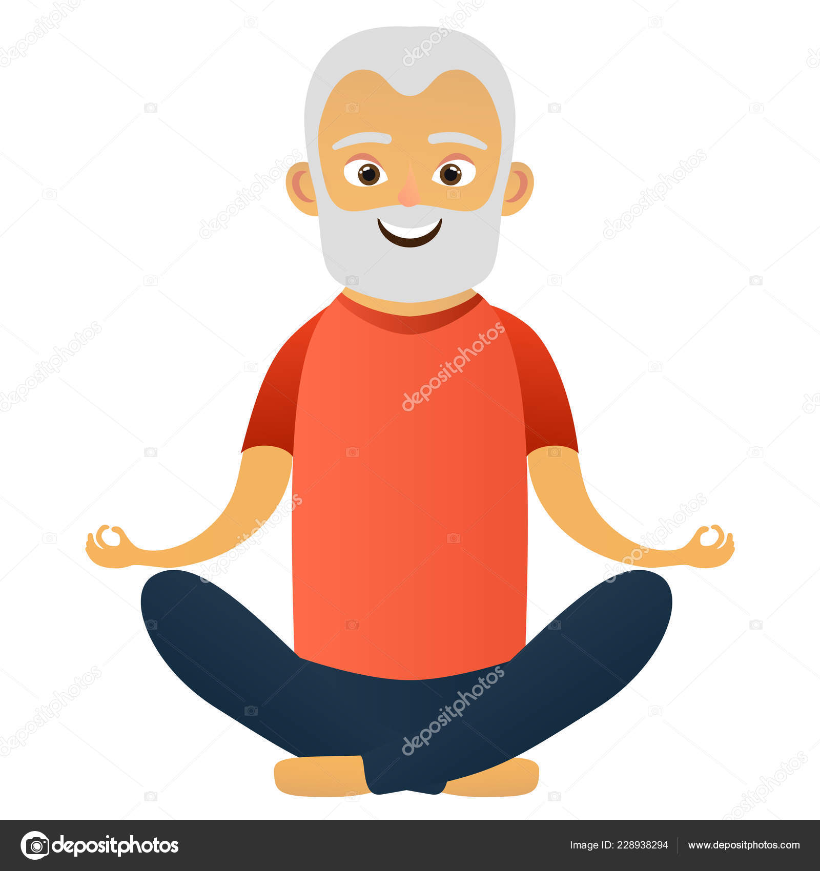 Happy Old Men Dressed Sports Clothing Practicing Yoga Exercises Cute Stock Vector C Exit Near Gmail Com 228938294