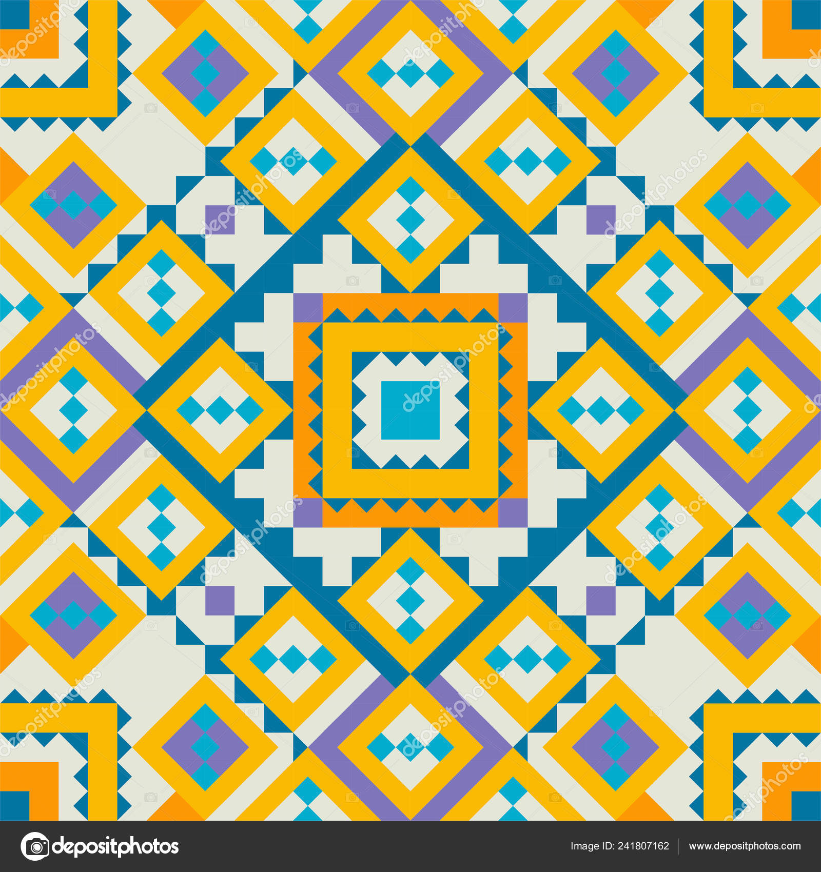 Tribal Vector Seamless Pattern Aztec Fancy Abstract