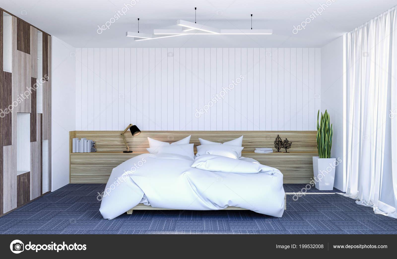 Intérieur Blanc Chambre Contemporain Moderne Avec Espace Copie Sur ...