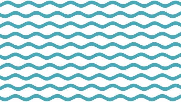 Blaue Wellen Muster Bewegung 4k Video