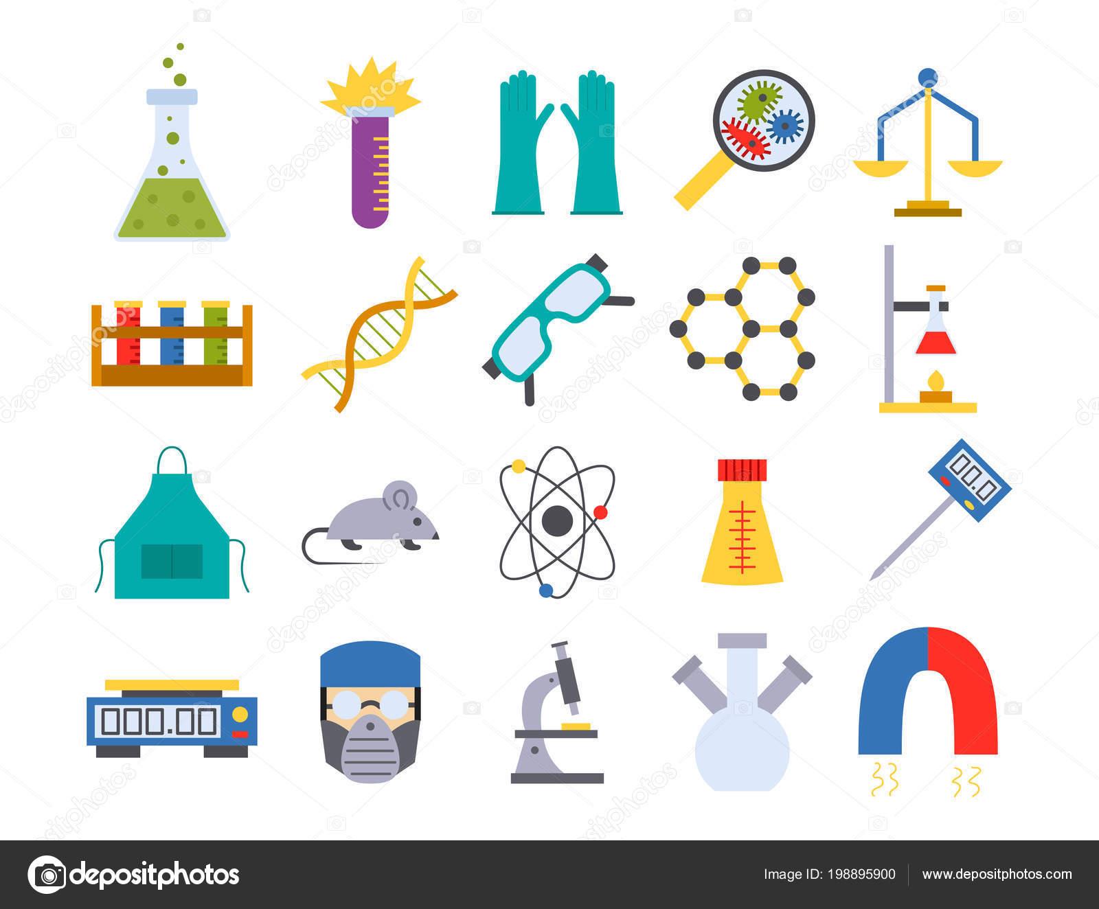 """Ilustración De Iconos De La Química """"la Ciencia"""
