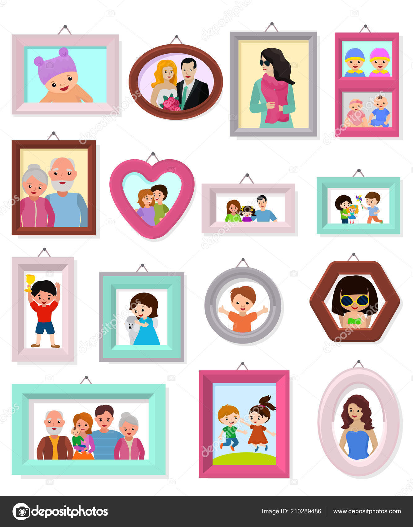 Frame Vector Framing Picture Or Family Photo For Wall Decoration