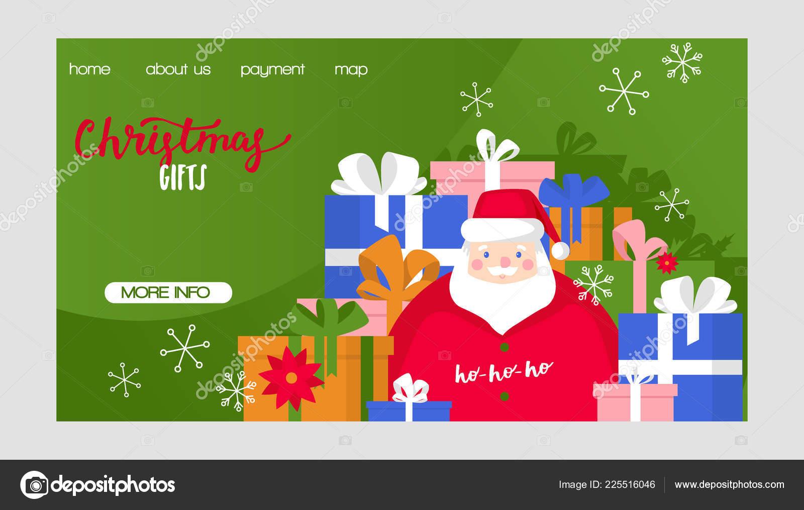 Christmas vector Merry Xmas greeting card with santa claus new year ...