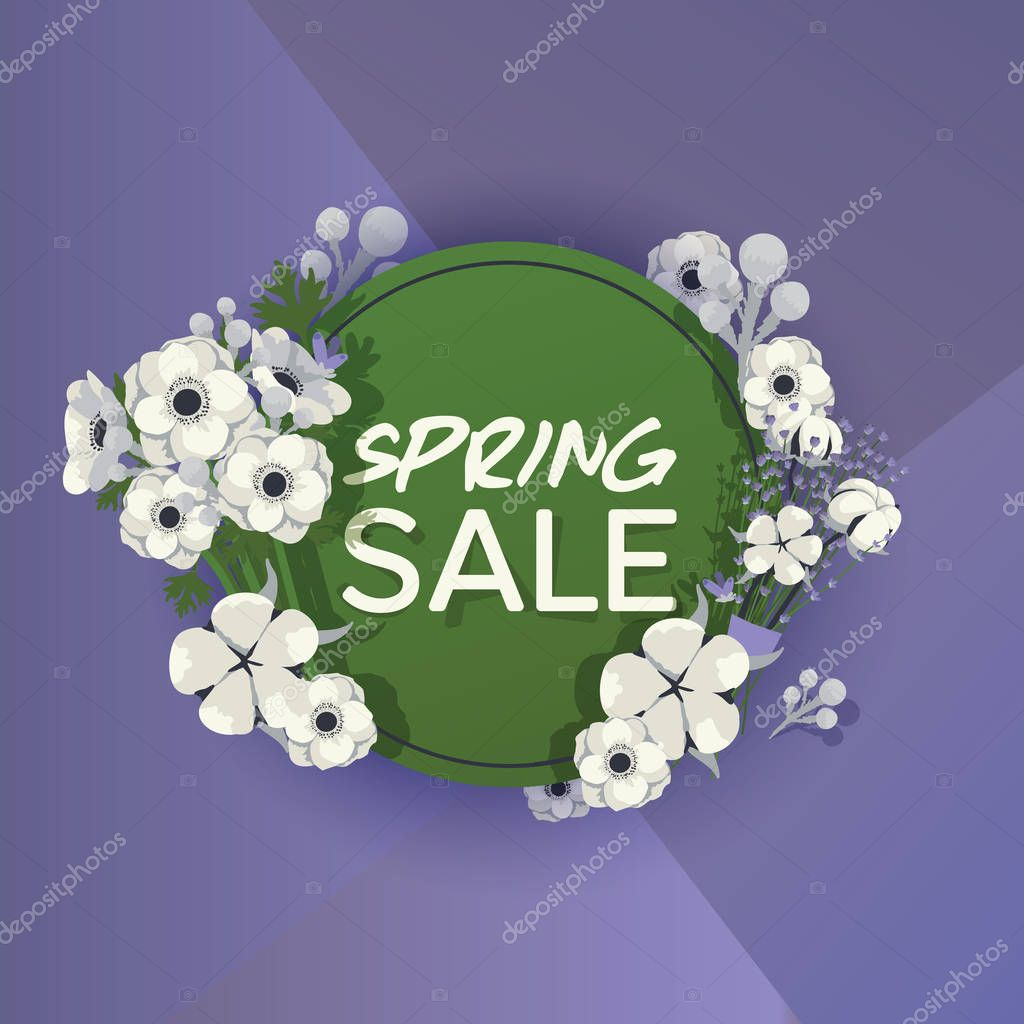 Bouquet vector beautiful floral backdrop with blossom spring flowers illustration flowering wallpaper flowery shopping sale background