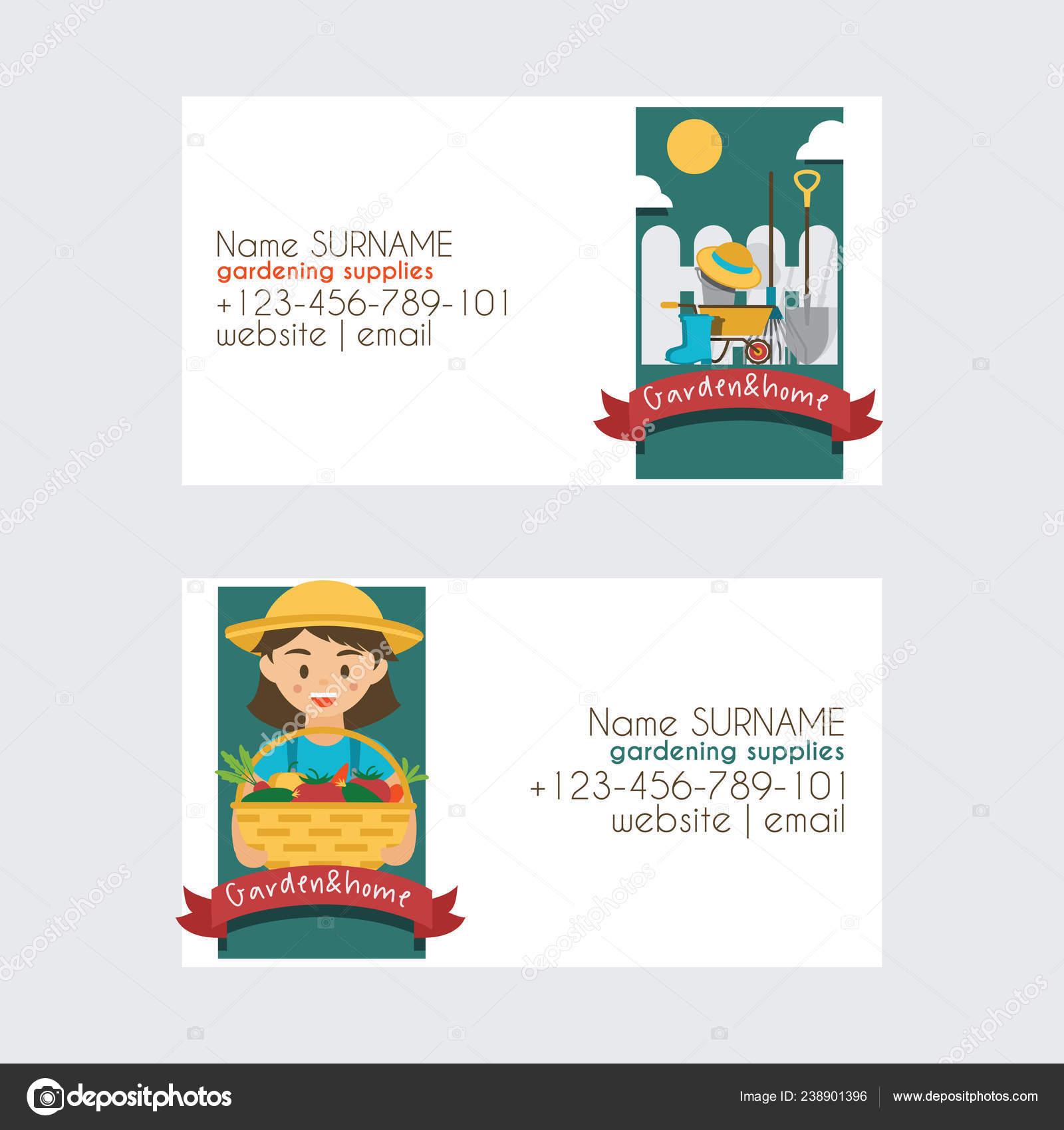 Bauernhof Vektor Landwirtschaft Gartenbau Ernte Visitenkarte