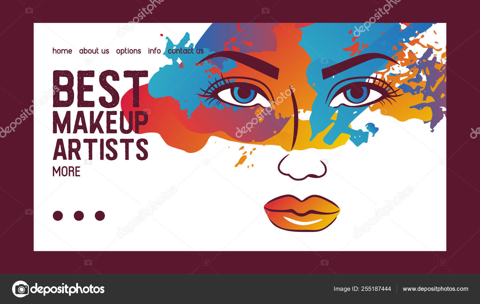 Woman Face Banner Web Vector Illustration Beauty Design For Salon Make Up Artist Courses Training Cosmetic Products Professional Care School For Beautician Masterclass Stock Vector C Luplupme Gmail Com 255187444