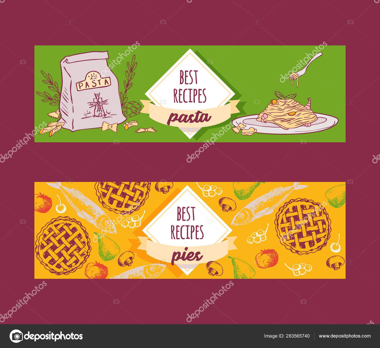 Platos De Recetas De Pasta De Cocina Italiana Y Pasteles