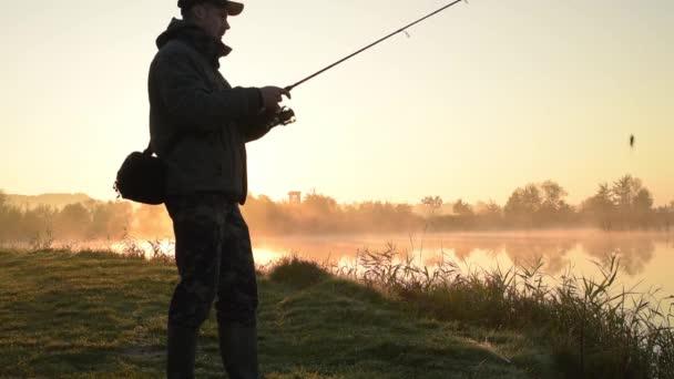 Silhouette halász