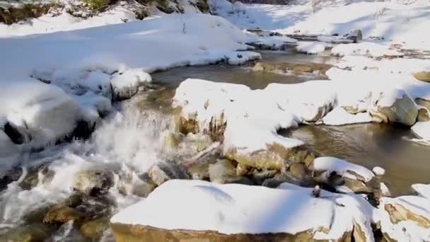zimní horská řeka