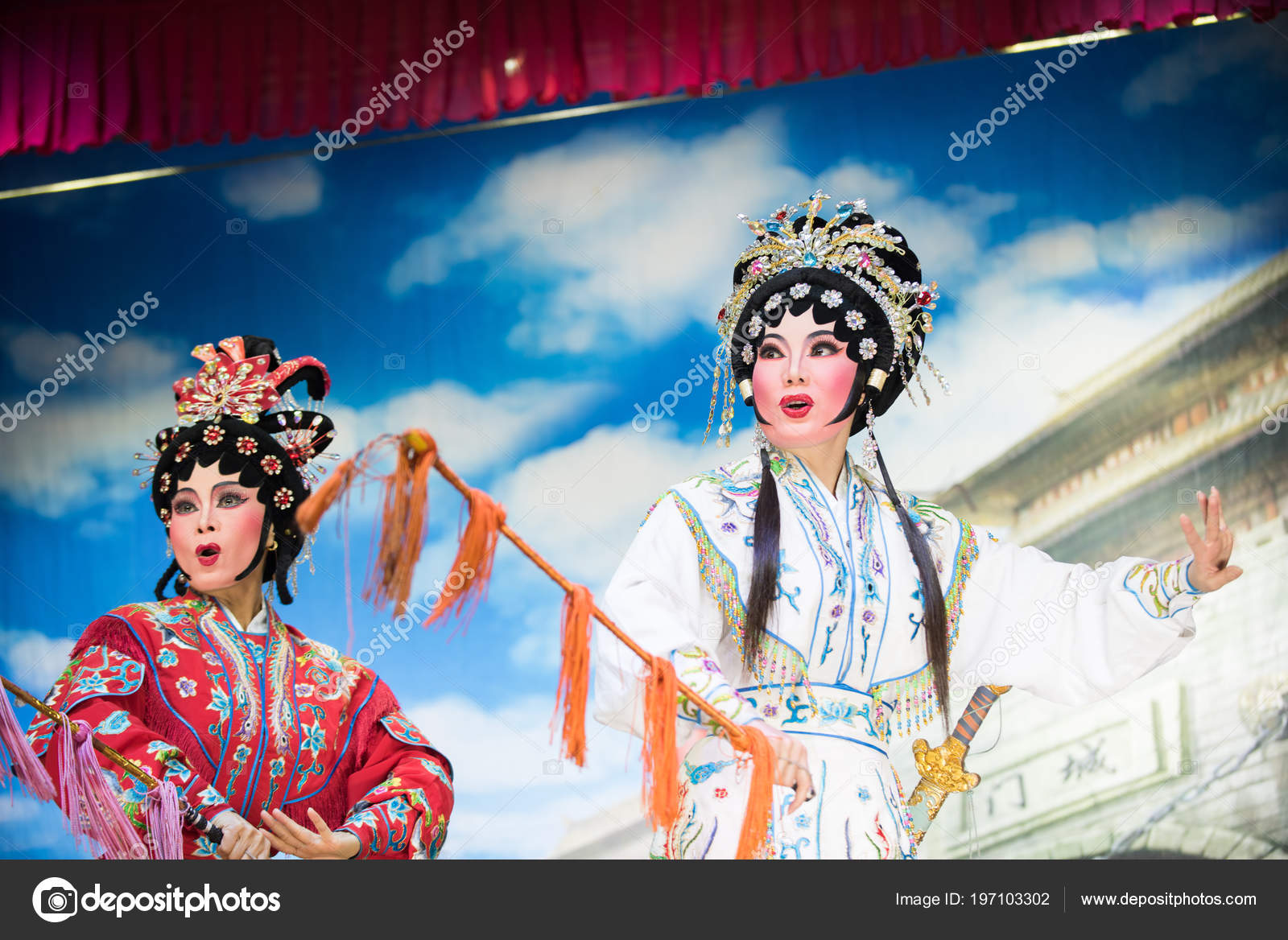 Bangkok Thailand April 2018 Actor Make Performance Chinese