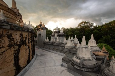 Buddhist Temple : Sandstone Pagoda in Pa Kung Temple at Roi Et of Thailand
