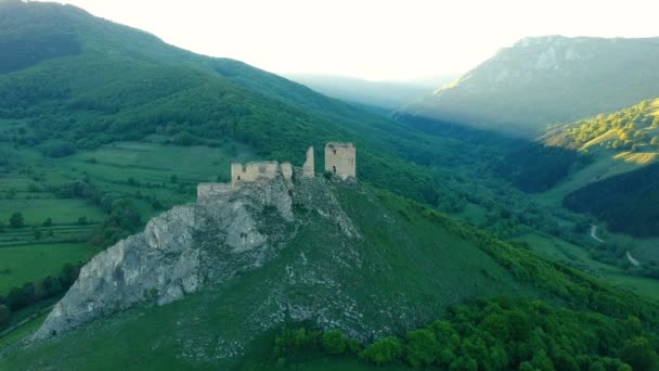 A légi felvétel a Torockószentgyörgy középkori vár, Transylvania