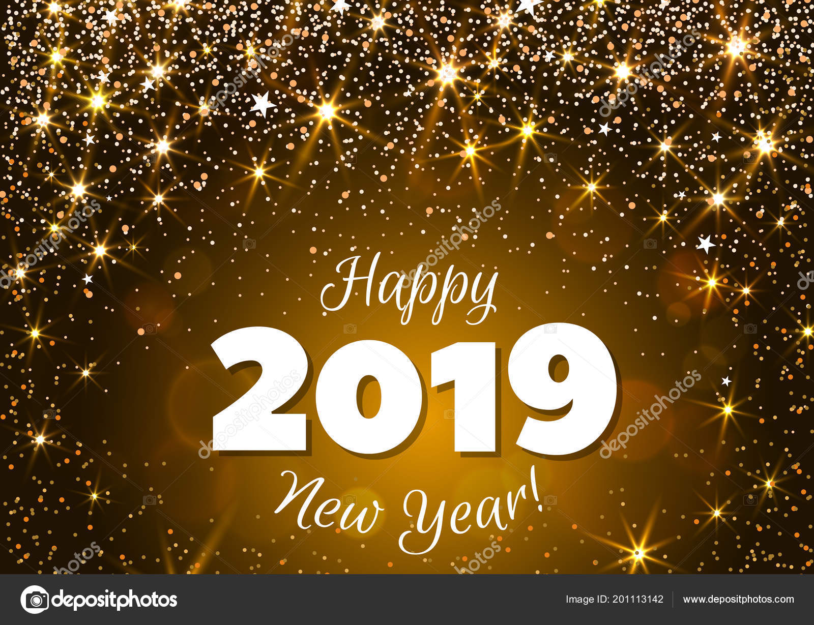 happy new year 2019 greeting banner festive background with colorful confetti party popper and sparkles vector vector by alffiskygmailcom