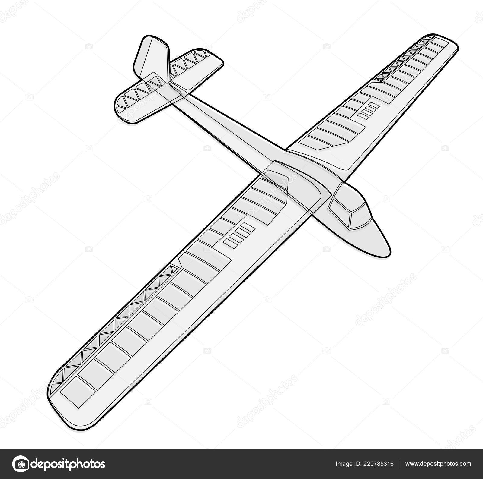 Model Glider Ground Plan Beautiful Subtle Airplane Balsa Wood Wings