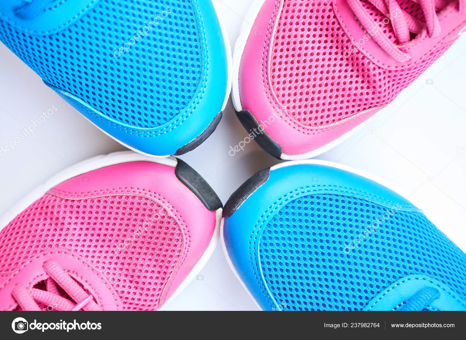 Pareja Azul Correr Zapatillas Para Hombres Par Color Rosa