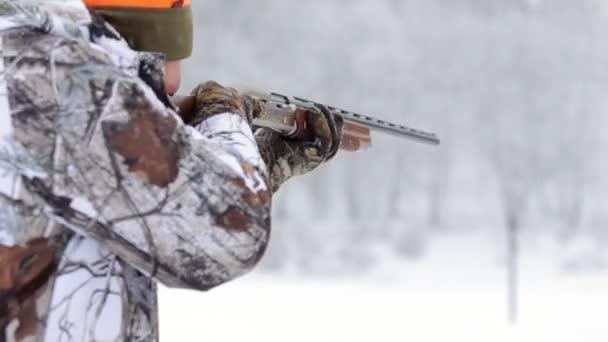 Panoráma kilátás a vadász puska. A vadász puskával álcázás célok
