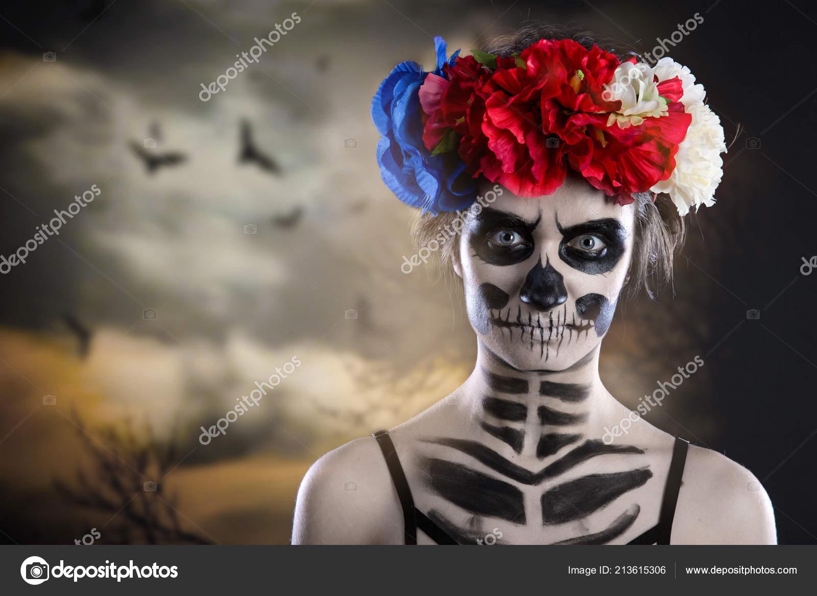 3D Female Skeleton Figure Portrait Art Home Decor Halloween Decoration 25707