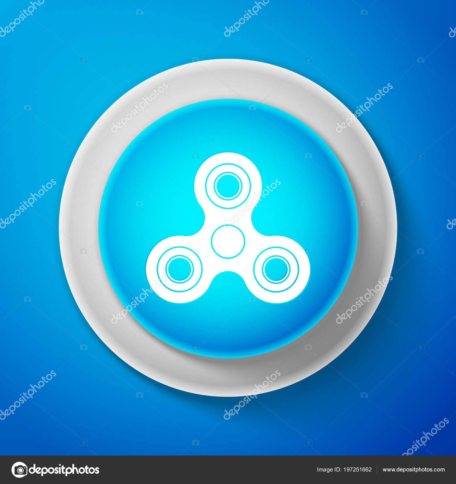 Fondo Sobre De AzulJuguete Spinner Aislado Blanco Icono Fidget bv7f6gyY