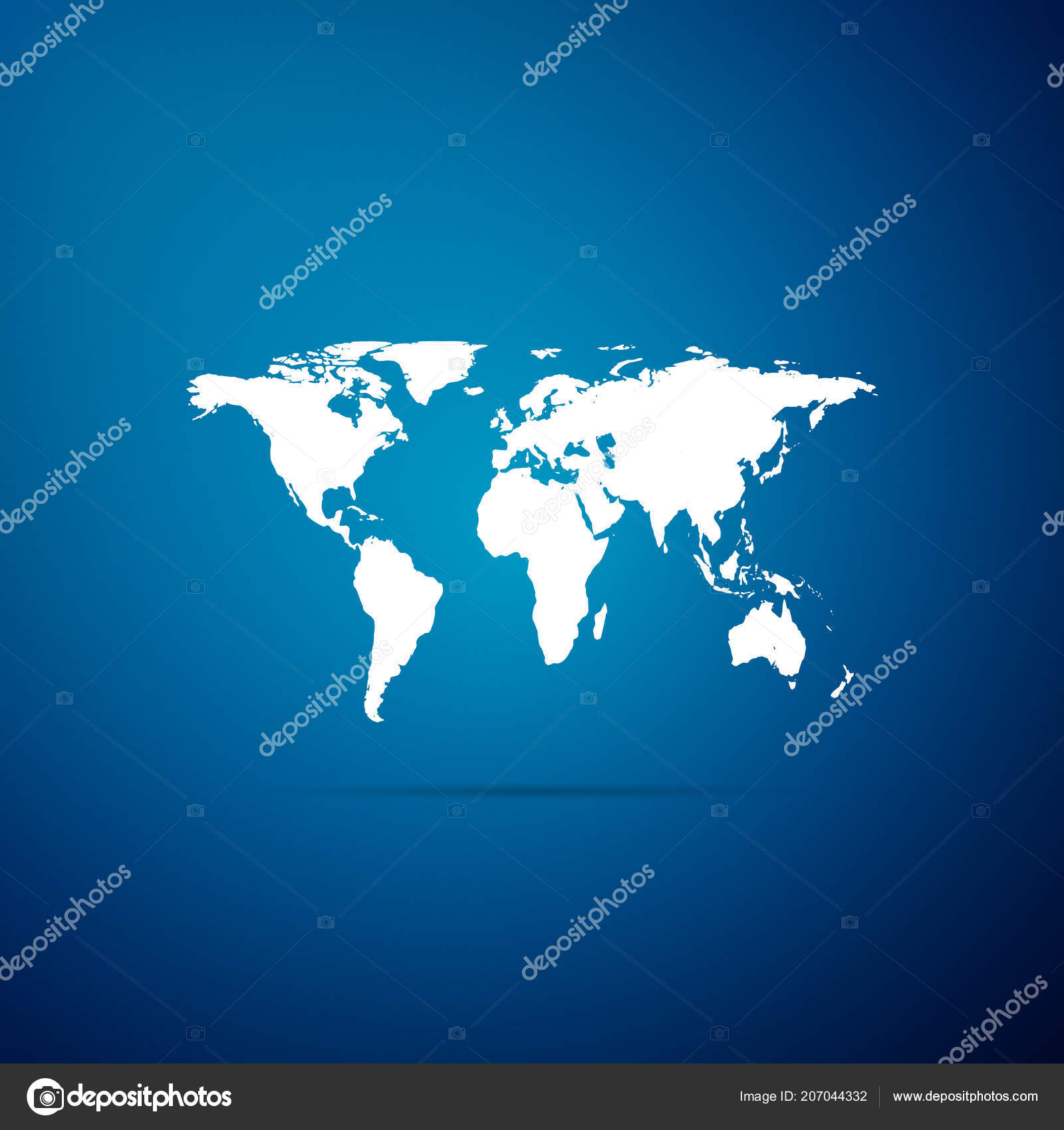 World map icon isolated on blue background flat design vector world map icon isolated on blue background flat design vector illustration stock vector gumiabroncs Image collections
