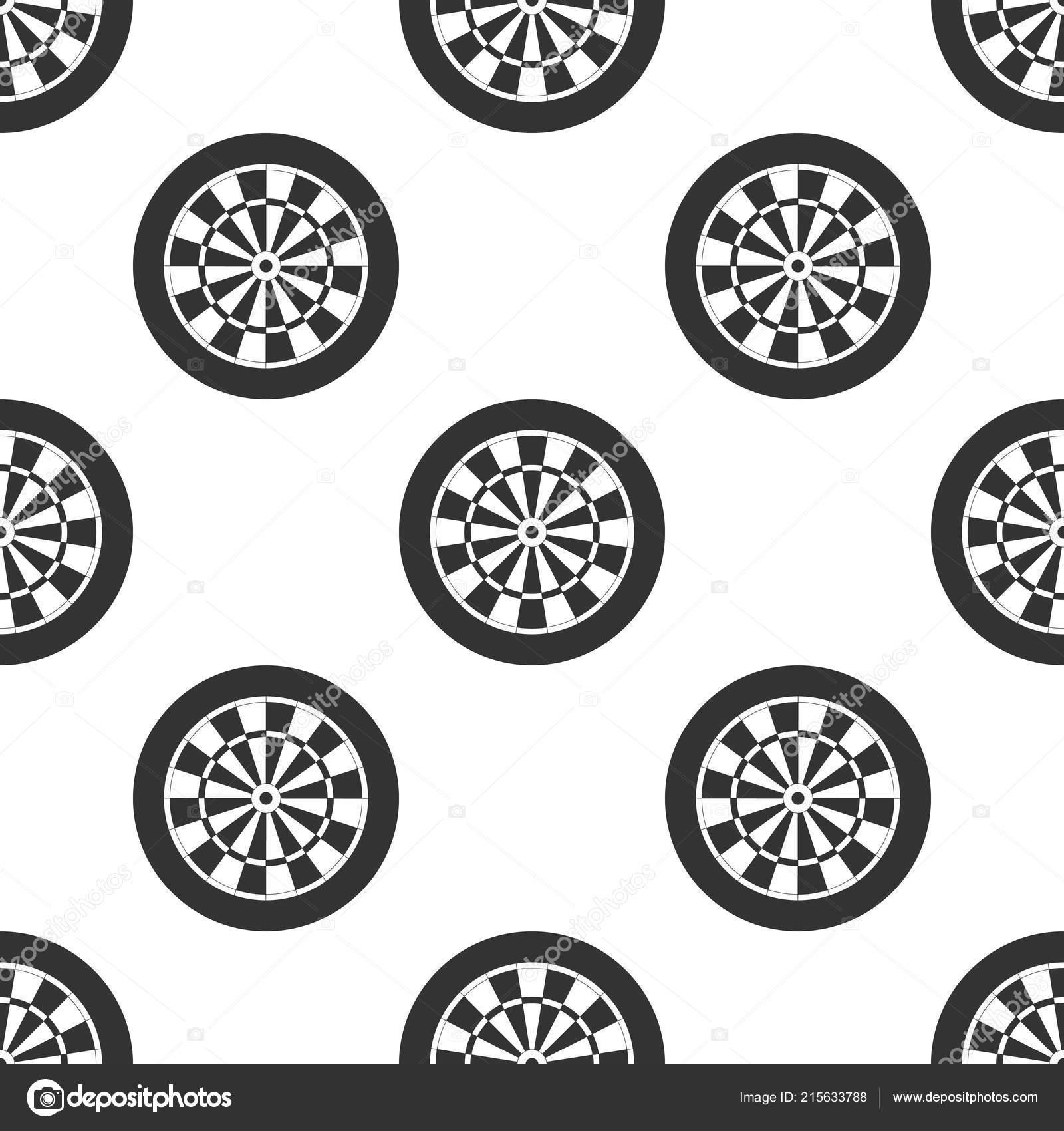 Clásico dardos tablero con patrones sin fisuras del icono de veinte ...