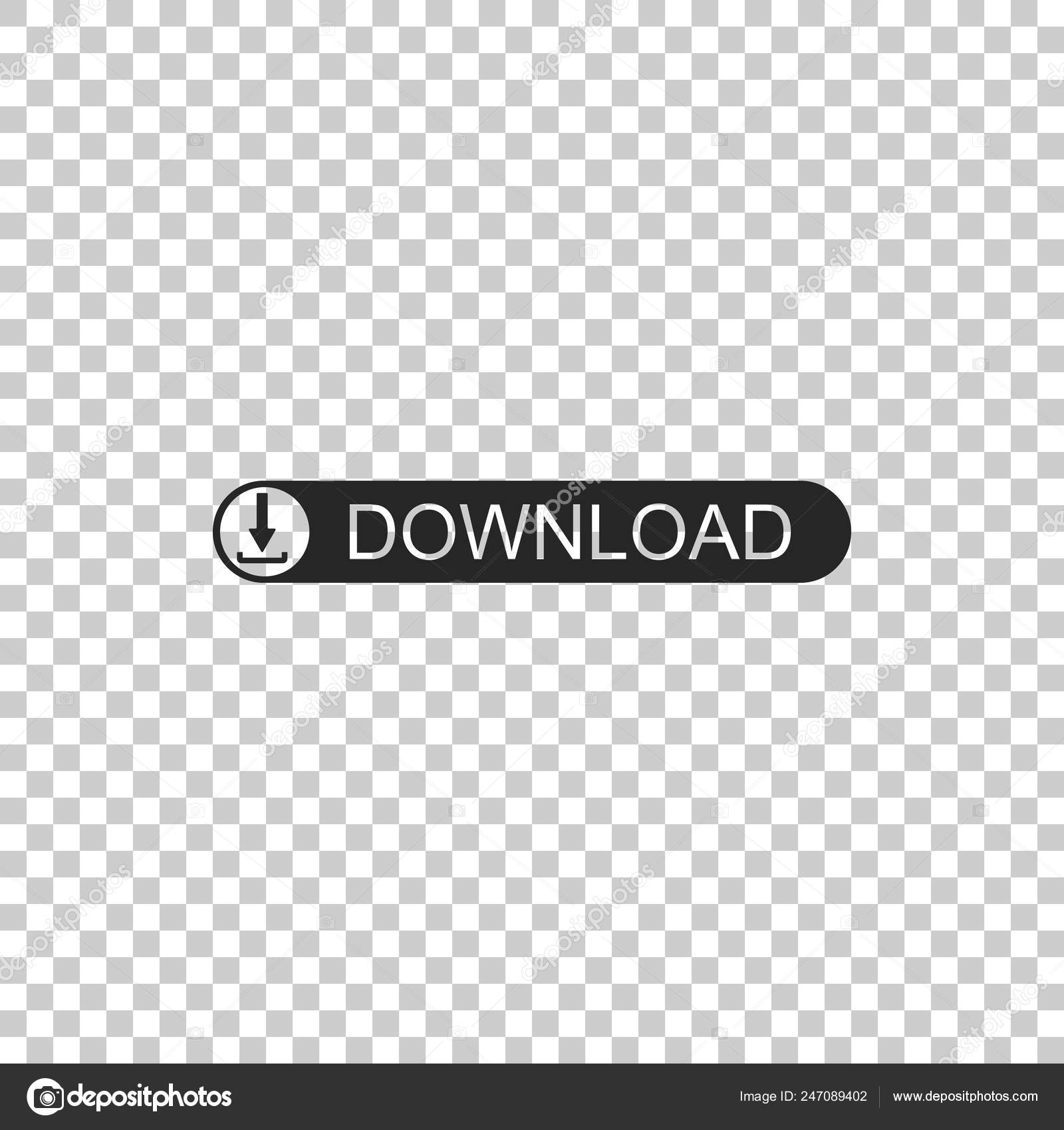 Download Button With Arrow Icon Isolated On Transparent Background