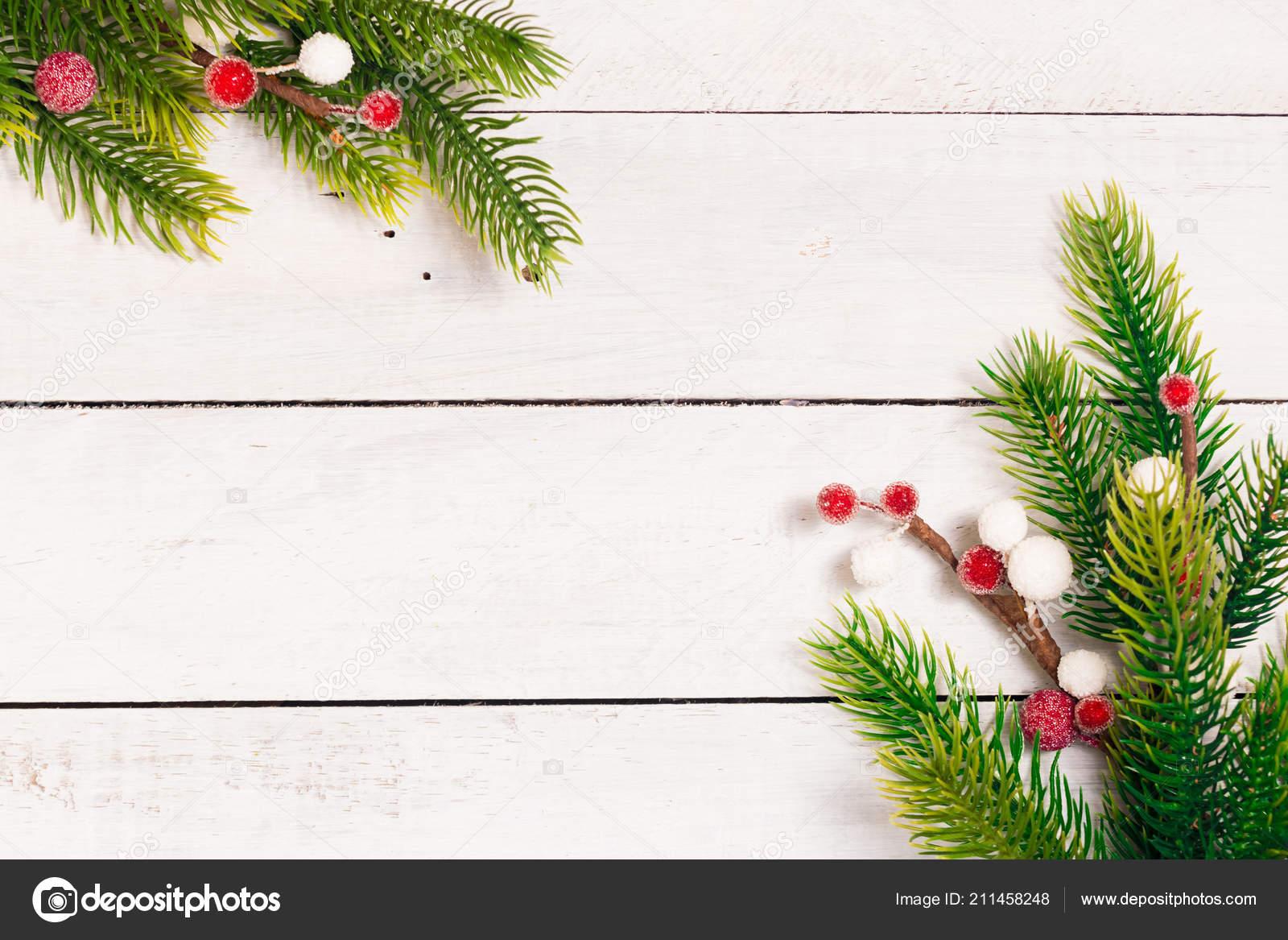 Branches Sapin Noel Avec Decoration Differente Tranches Citron