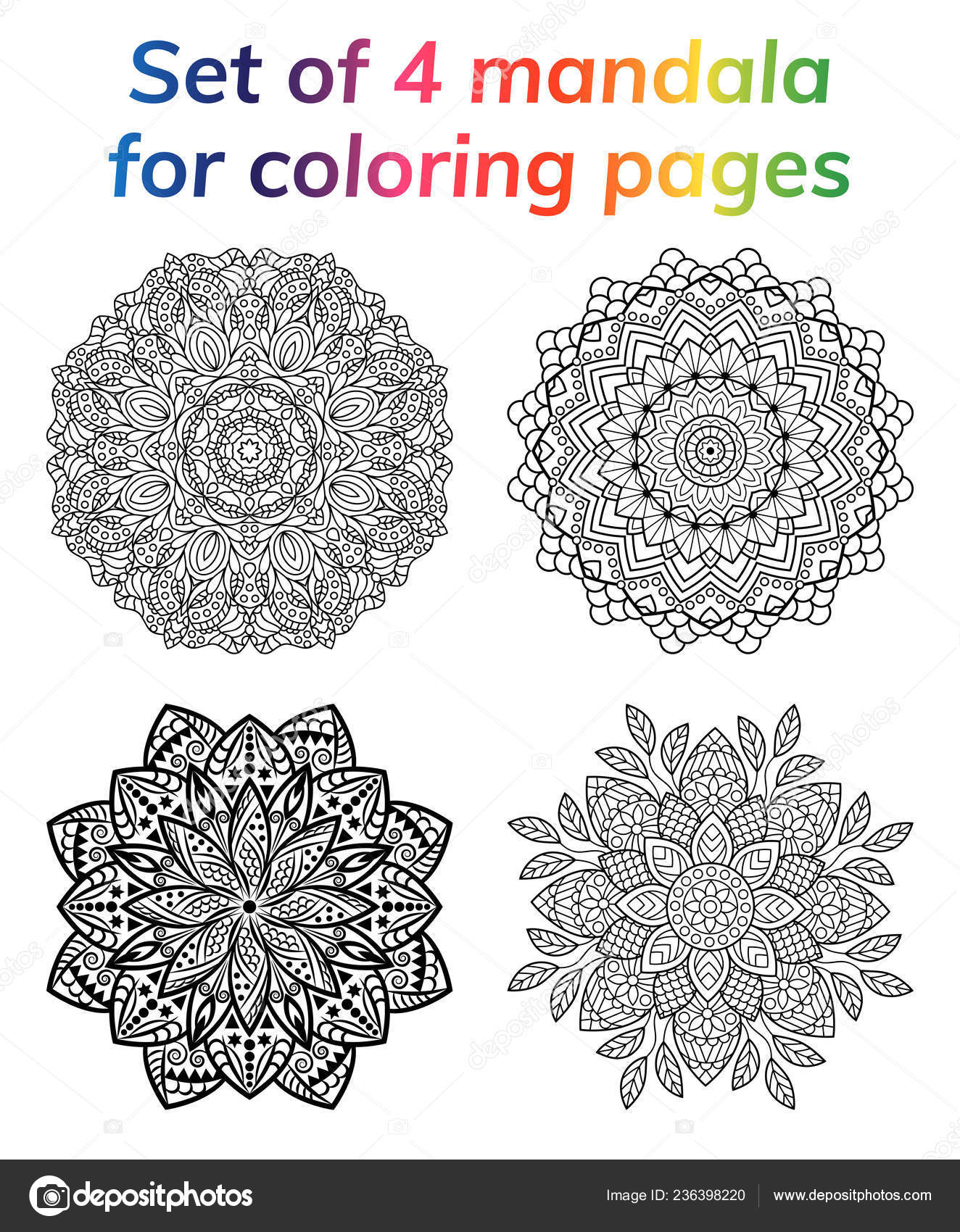 depositphotos stock illustration coloring book pages set collection