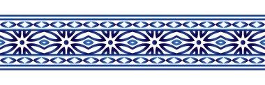 Ceramic tile border pattern. Islamic, indian, arabic motifs. Dam