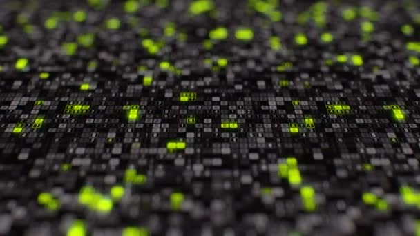 Artificial intelligence generated big data digital software source code seamless loop animation