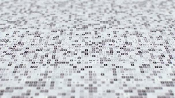 Random hexadecimal code digits and letters in different configurations on black and white background