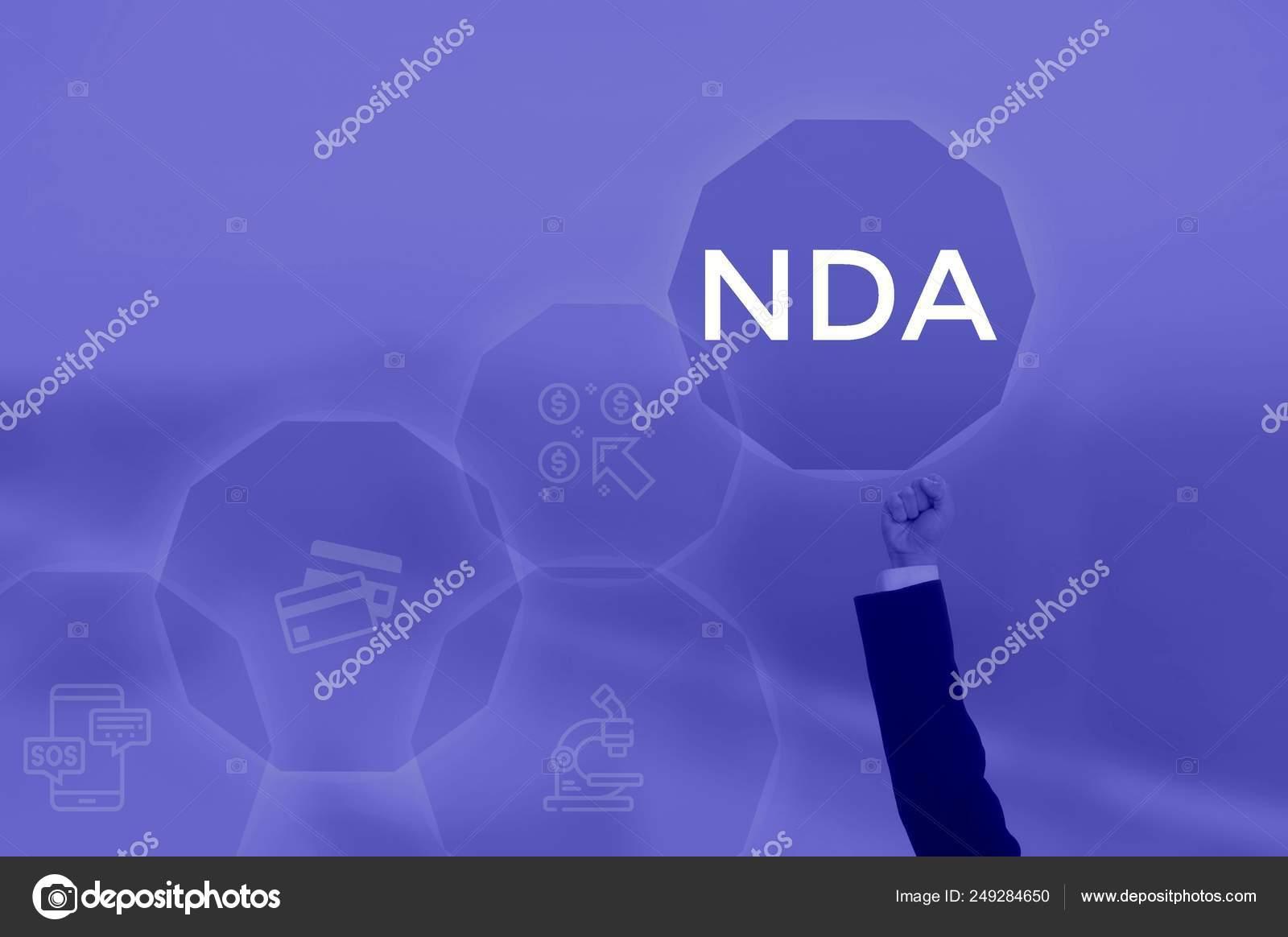 Select Icon Nda Non Disclosure Agreement Stock Photo