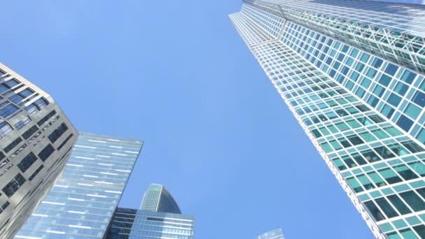 Komplex výškových sklo budov