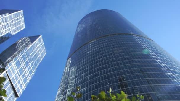 Panorama von Glashochhäusern
